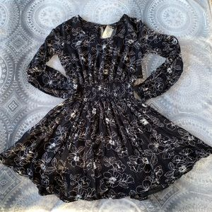 Forever 21 Dress Black with Floral print